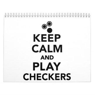 Guarde a los inspectores de la calma y del juego calendarios