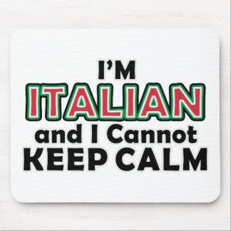 Guarde a los italianos tranquilos alfombrilla de ratones