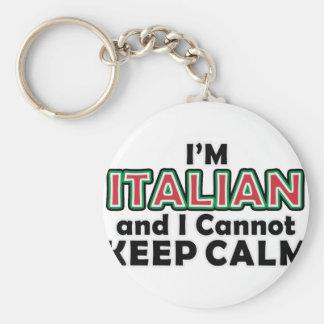 Guarde a los italianos tranquilos llavero