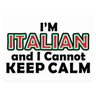 Guarde a los italianos tranquilos tarjeta postal