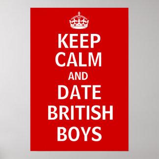 Guarde a los muchachos de Británicos de la calma y Póster