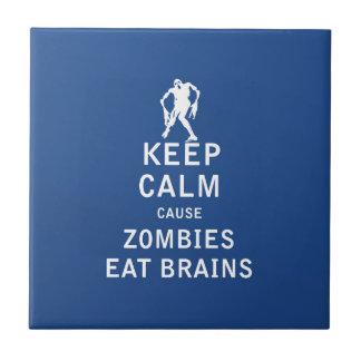 Guarde a los zombis tranquilos de la causa para co tejas  ceramicas