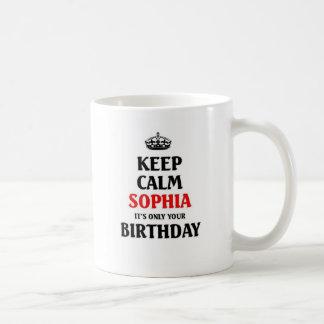 Guarde a Sophia tranquilo que es solamente su Taza Clásica