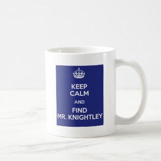 Guarde a Sr. tranquilo Knightley Emma Jane Austen  Taza Básica Blanca
