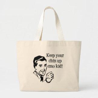 ¡Guarde a su Chin encima del niño de Emo Bolsa De Mano