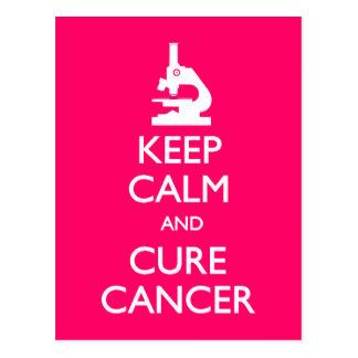 Guarde al cáncer tranquilo de la curación tarjetas postales