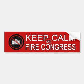 Guarde al congreso de la calma y del fuego pegatina para auto