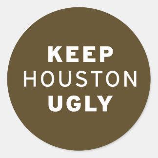 Guarde al pegatina feo de Houston