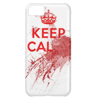 Guarde al zombi sangriento tranquilo carcasa para iPhone 5C