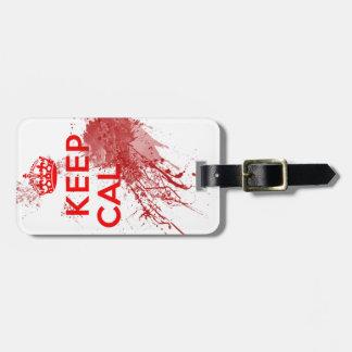 Guarde al zombi sangriento tranquilo etiquetas de maletas