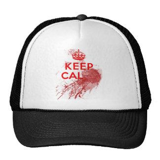 Guarde al zombi sangriento tranquilo gorras