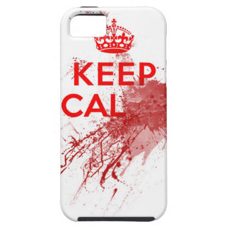 Guarde al zombi sangriento tranquilo iPhone 5 fundas