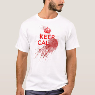 Guarde al zombi sangriento tranquilo playera
