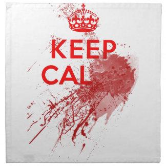 Guarde al zombi sangriento tranquilo servilleta