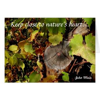 Guarde cerca del corazón de la naturaleza… tarjeta pequeña