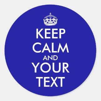 Guarde decir adaptable tranquilo añadir su texto etiqueta redonda