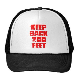 Guarde detrás 200 pies gorros bordados