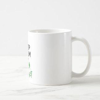Guarde divertido tranquilo taza de café