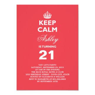 Guarde el 21ro cumpleaños del jalón divertido anuncio