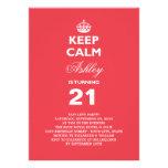 Guarde el 21ro cumpleaños del jalón divertido tran anuncio
