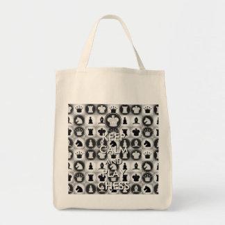 Guarde el ajedrez de la calma y del juego bolsa tela para la compra
