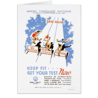 Guarde el ajuste para conseguir probó WPA 1939 Tarjeta De Felicitación