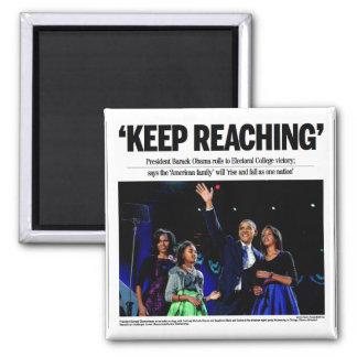 """""""Guarde el alcanzar"""" del imán de Obama"""