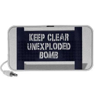 Guarde el altavoz inexplotado claro de la bomba