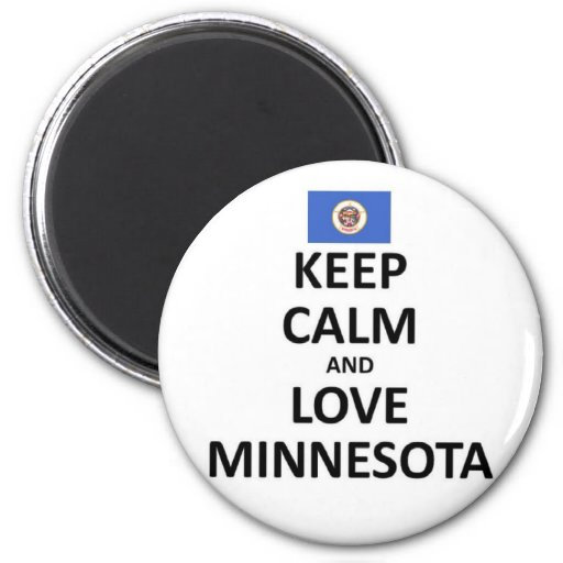 guarde el amor tranquilo Minnesota.jpg Imán Redondo 5 Cm