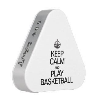 Guarde el baloncesto de la calma y del juego altavoz bluetooth