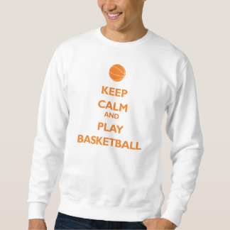 Guarde el baloncesto de la calma y del juego (el sudadera con capucha