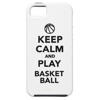 Guarde el baloncesto de la calma y del juego iPhone 5 Case-Mate fundas