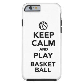 Guarde el baloncesto de la calma y del juego funda de iPhone 6 tough