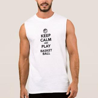 Guarde el baloncesto de la calma y del juego camisetas sin mangas