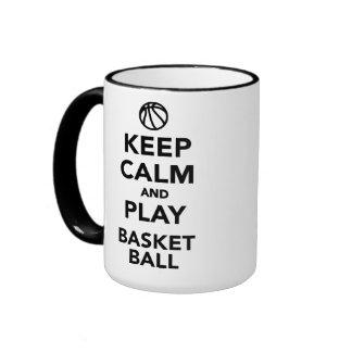 Guarde el baloncesto de la calma y del juego tazas