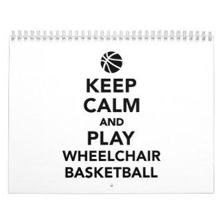 Guarde el baloncesto de silla de ruedas de la calendarios