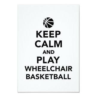 """Guarde el baloncesto de silla de ruedas de la invitación 3.5"""" x 5"""""""