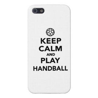 Guarde el balonmano de la calma y del juego iPhone 5 cárcasa