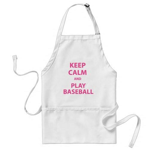 Guarde el béisbol de la calma y del juego delantal