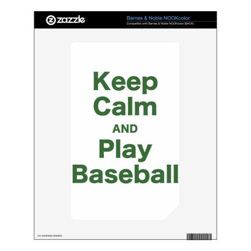 Guarde el béisbol de la calma y del juego skins para elNOOK color