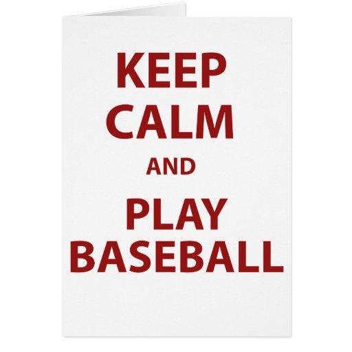 Guarde el béisbol de la calma y del juego felicitaciones