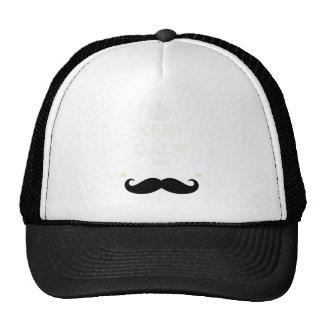 Guarde el bigote tranquilo gorras de camionero