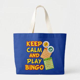 Guarde el bingo de la calma y del juego bolsas de mano