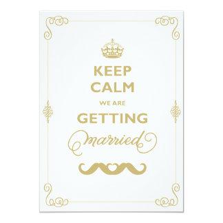Guarde el boda gay del vintage clásico tranquilo invitación 12,7 x 17,8 cm