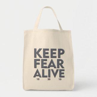Guarde el bolso de ultramarinos vivo del miedo bolsa