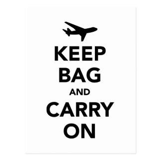 Guarde el bolso y continúe postales