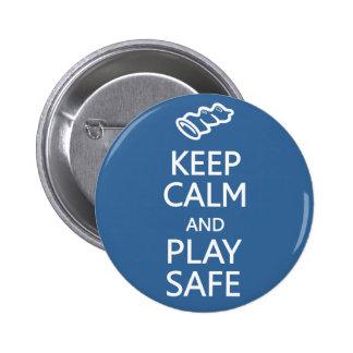 Guarde el botón de encargo seguro de la calma y de pin redondo de 2 pulgadas