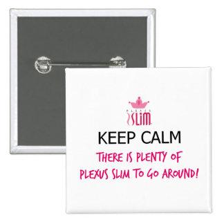 Guarde el botón delgado del plexo tranquilo pin cuadrado