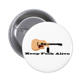Guarde el botón vivo popular pin redondo de 2 pulgadas
