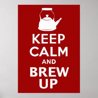 Guarde el Brew tranquilo encima del poster gigante